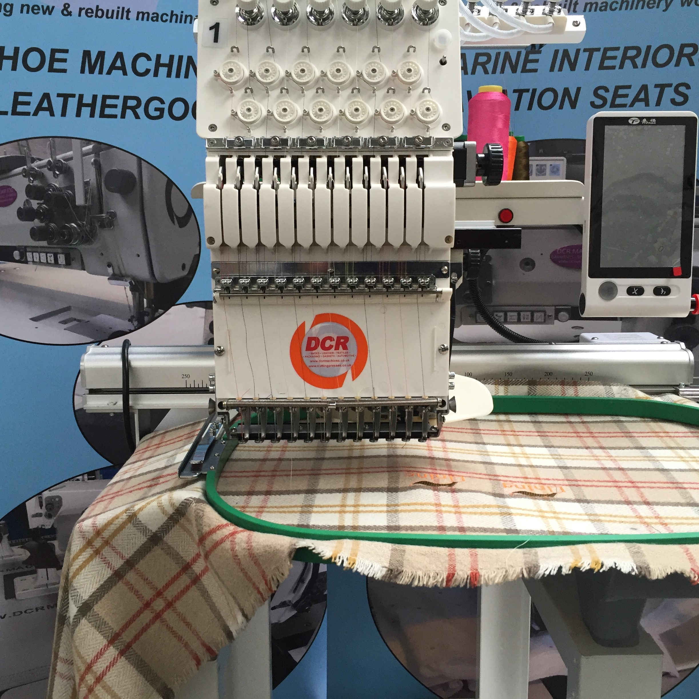 Photo of an DCR 112N- Industrial 12 Needle Embroidery Machine Industrial Sewing Machines