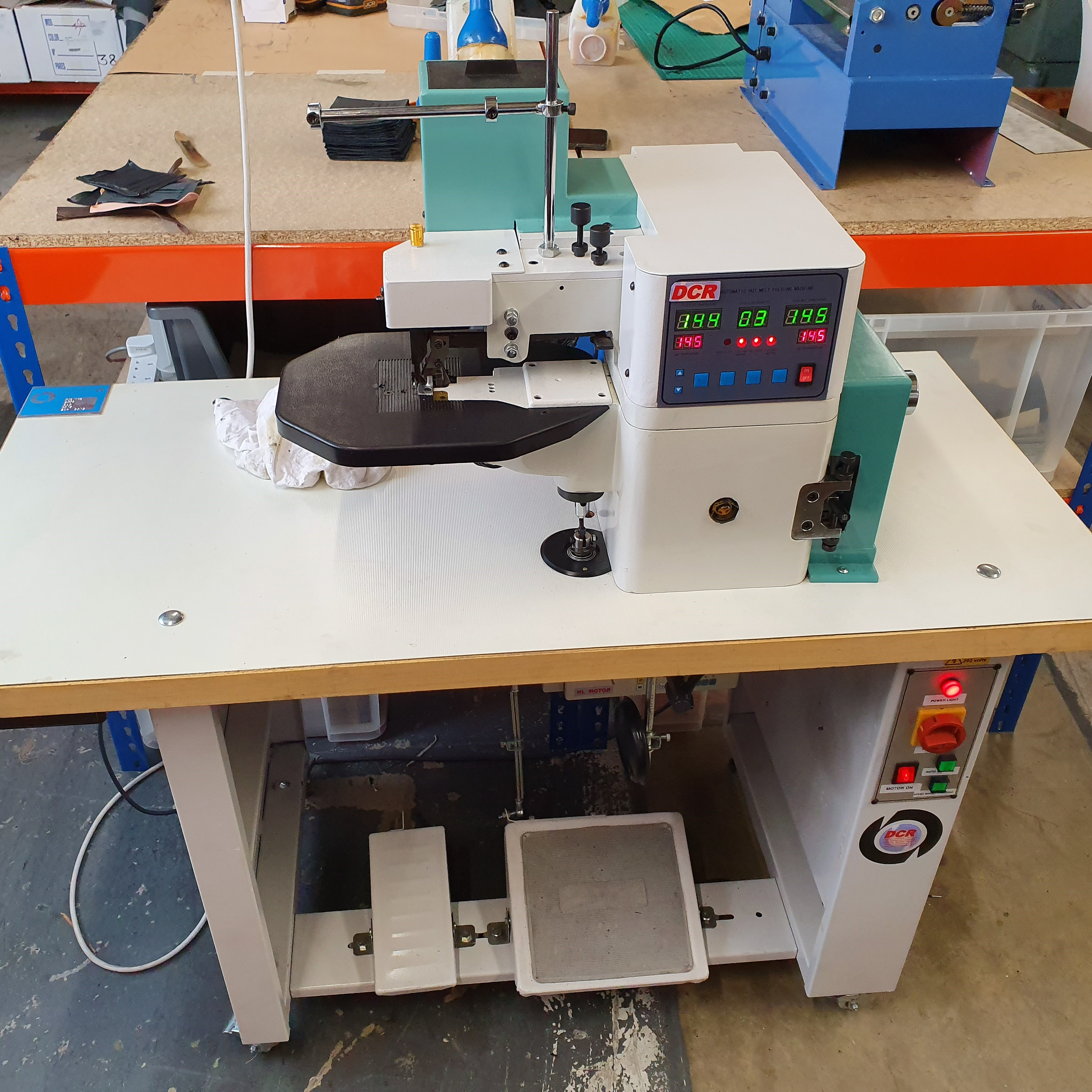 Photo of an DCR-EF EDGE FOLDING MACHINE Industrial Sewing Machines